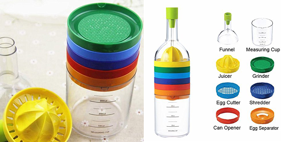 Mehrzweck Funktion Küche Werkzeug Flasche 8 in 1